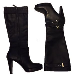 Cole Haan Nike Air 6.5B Black knee high boots